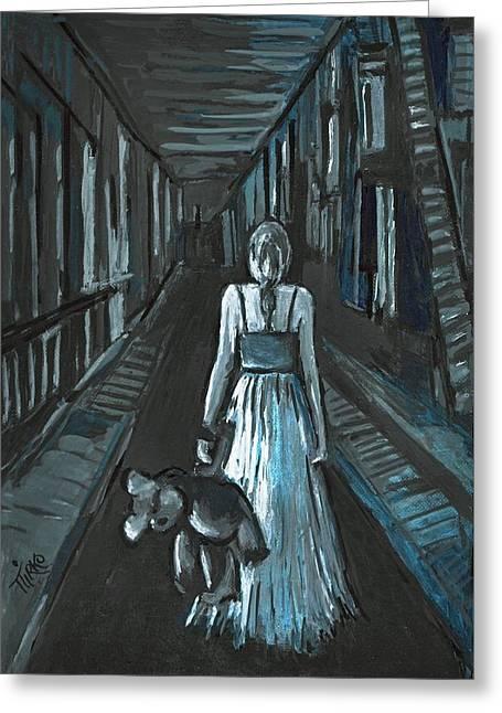 La Fille Au Bout Du Tunnel Greeting Card by Mirko Gallery