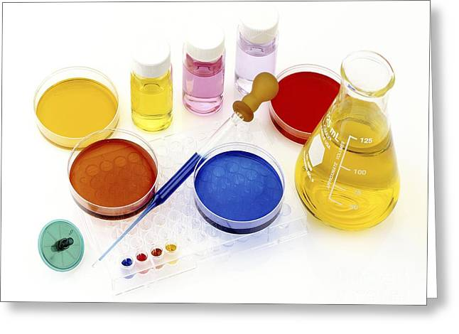 Agar Greeting Cards - Lab Equipment Greeting Card by PhotoStock-Israel