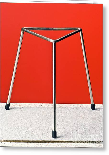 Laboratory Equipment Greeting Cards - Laboratory Tripod Stand Greeting Card by Martyn F. Chillmaid