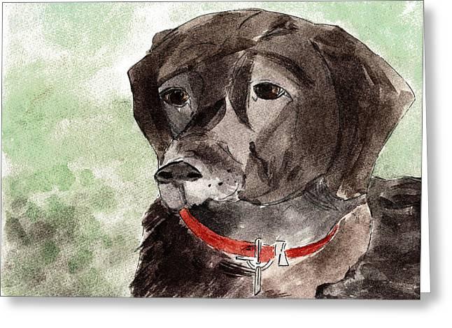 Veterinarian Greeting Cards - Labrador Retriever Greeting Card by Elizabeth Briggs