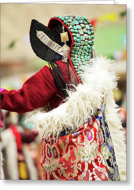 Ladakh, India Married Ladakhi Women Greeting Card by Jaina Mishra