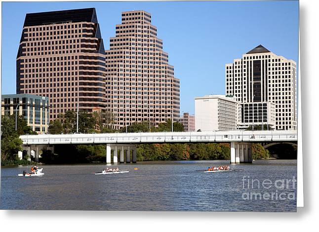 First-lady Greeting Cards - Lady Bird Lake Austin Texas Greeting Card by Bill Cobb