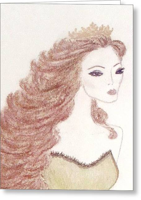 Medieval Pastels Greeting Cards - Lady Godiva  Greeting Card by Christine Corretti