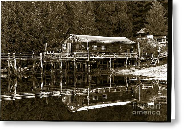 Bc Inside Passage Greeting Cards - Lagoon Cove Greeting Card by Robert Bales