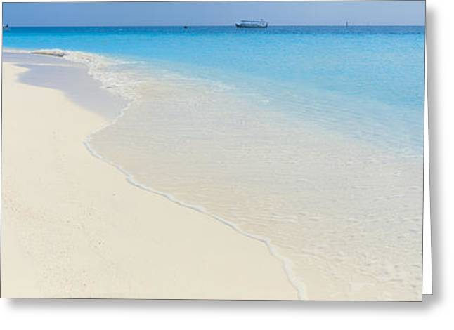 Boats In Water Greeting Cards - Laguna Maldives Greeting Card by Panoramic Images