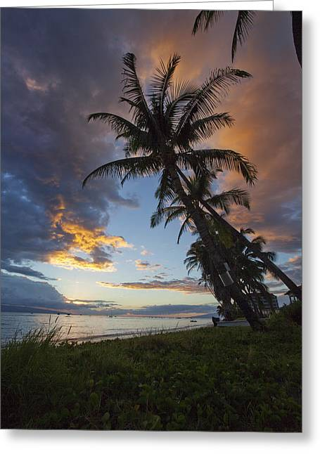 Lahaina Photographs Greeting Cards - Lahaina Sunset Greeting Card by James Roemmling