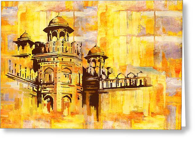 Karachi Lahore Greeting Cards - Lahore Fort Greeting Card by Catf