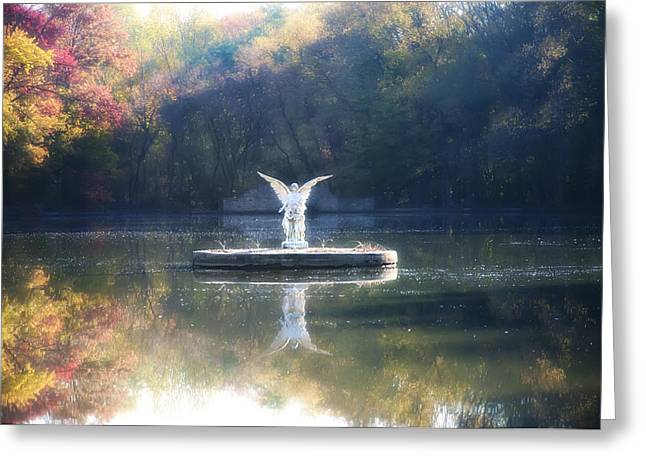 St. Mary Greeting Cards - Lake Angel Greeting Card by Bill Cannon