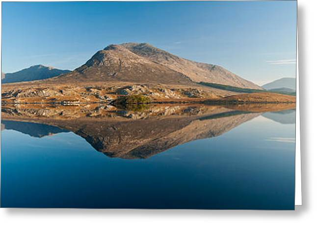 County Galway Greeting Cards - Lake At Dawn, Derryclare Lake Greeting Card by Panoramic Images
