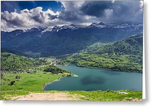 Bohinj Lake Greeting Cards - Lake Bohinj Greeting Card by Nina Peterka