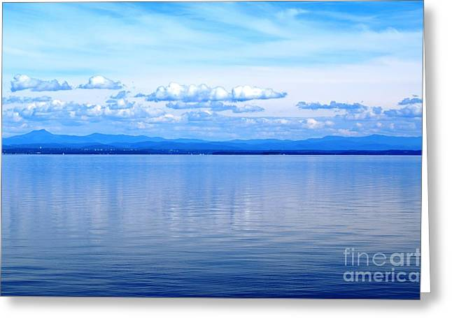 Port Kent Greeting Cards - Lake Champlain 20 Greeting Card by Sarah Holenstein