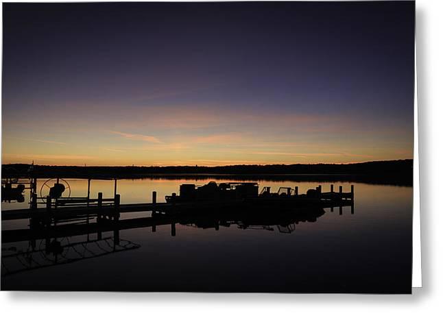 Gloaming Greeting Cards - Lake Como Fall Sunset-1 Greeting Card by Kathleen Scanlan