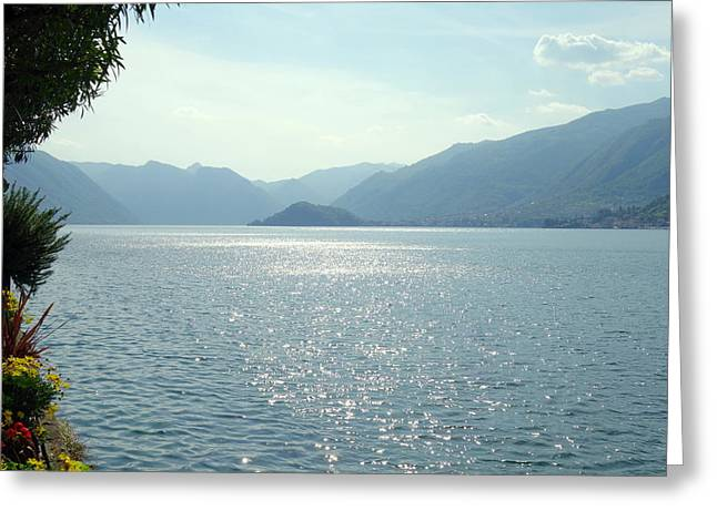 North Italian Town Greeting Cards - Lake Como Greeting Card by Valentino Visentini