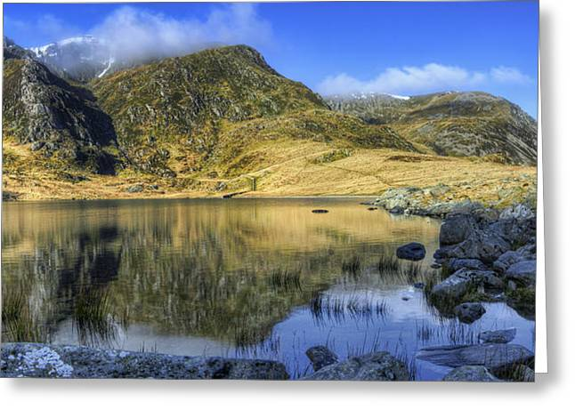 Water Scape Greeting Cards - Lake Idwal Greeting Card by Ian Mitchell