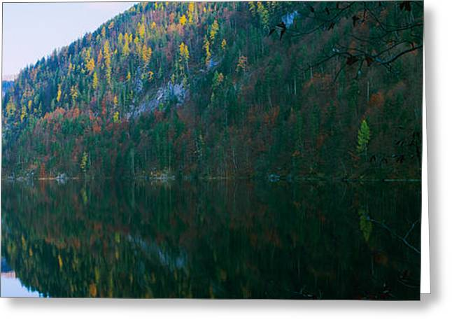 Reflection In Water Greeting Cards - Lake In Front Of Mountains, Lake Greeting Card by Panoramic Images