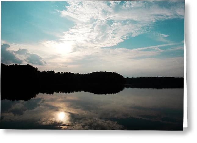 Lake Landscape Greeting Card by Kim Fearheiley