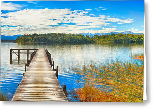 Jetty View Park Greeting Cards - Lake Mahinapua Greeting Card by MotHaiBaPhoto Prints