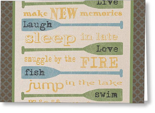 Flour Greeting Cards - Lake Rules-F Greeting Card by Jean Plout