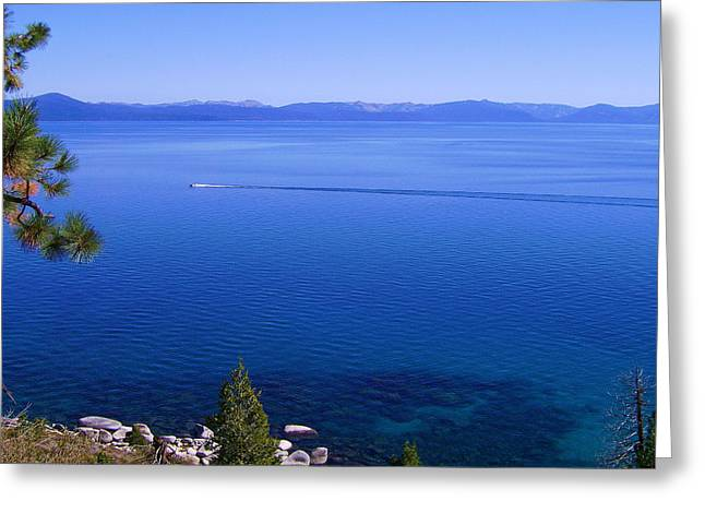 Reflective Greeting Cards - Lake Tahoe #1 Greeting Card by J D Owen
