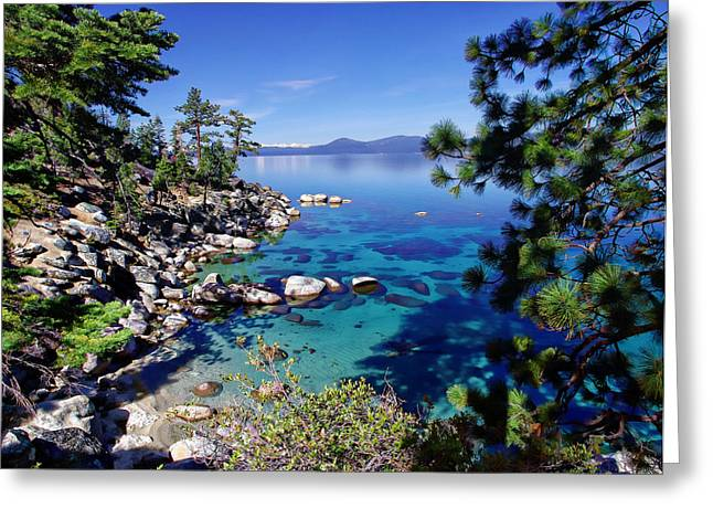 Best Sellers -  - Snow-covered Landscape Greeting Cards - Lake Tahoe Swimming Hole Greeting Card by Scott McGuire