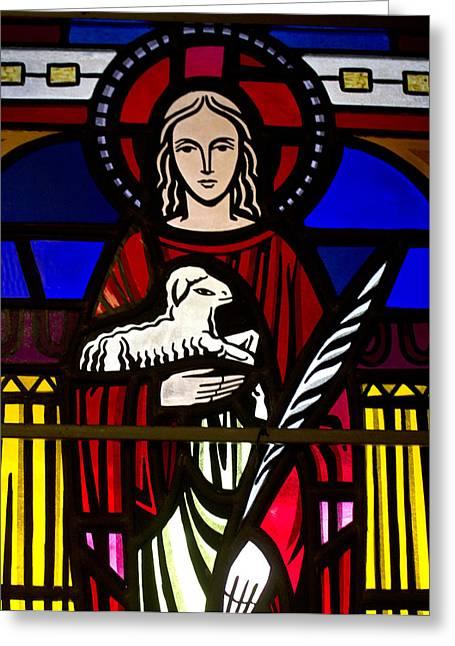 Lamb Of God  Greeting Card by Dee  Savage