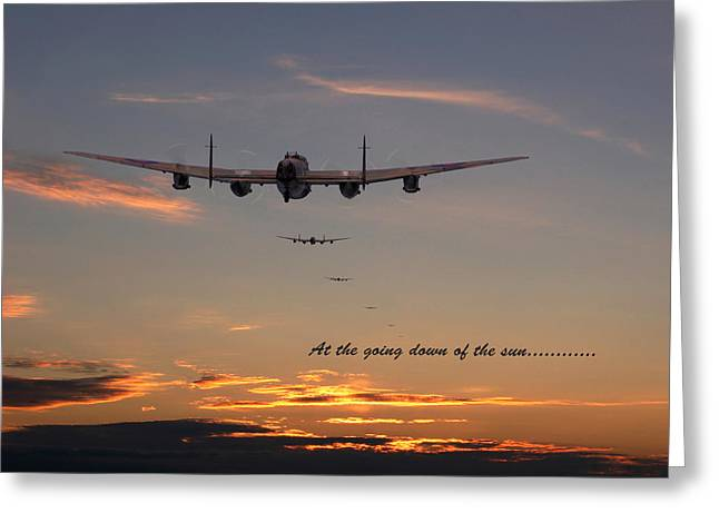 Lancaster - At The Going Down Of The Sun... Greeting Card by Pat Speirs