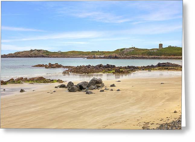 Vale Greeting Cards - LAncresse Bay - Guernsey Greeting Card by Joana Kruse