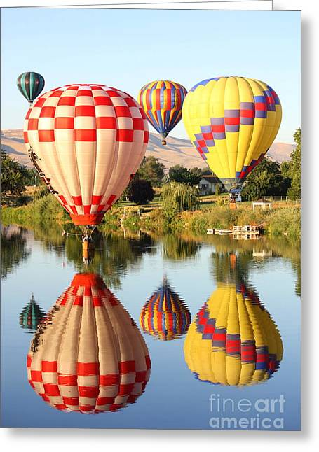 Landing On The Yakima River Greeting Card by Carol Groenen