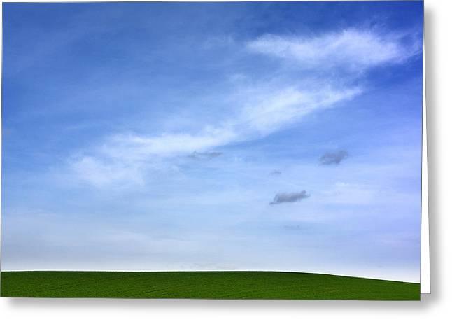 Cropland Greeting Cards - Landscape Greeting Card by Bernard Jaubert