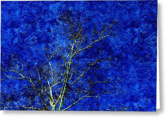 Landscape Blue Sky Greeting Card by Xueyin Chen