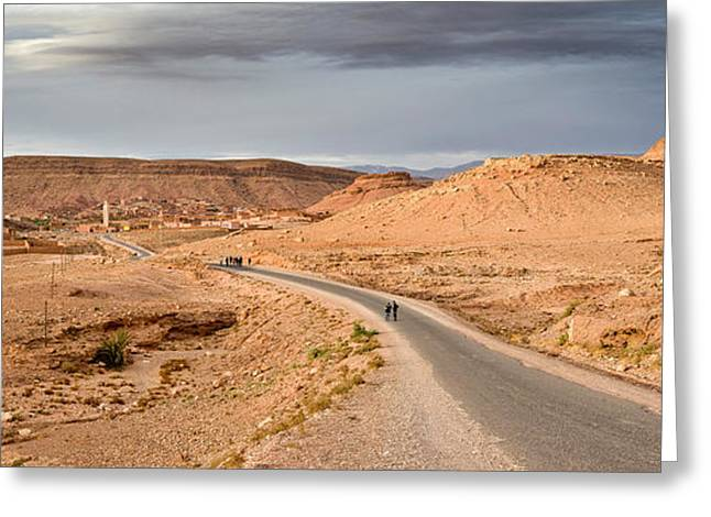Landscape, Kasbah, Ait Benhaddou Greeting Card by Panoramic Images