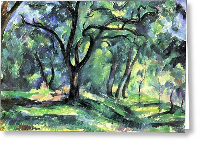 Landscape Greeting Card by Paul  Cezanne