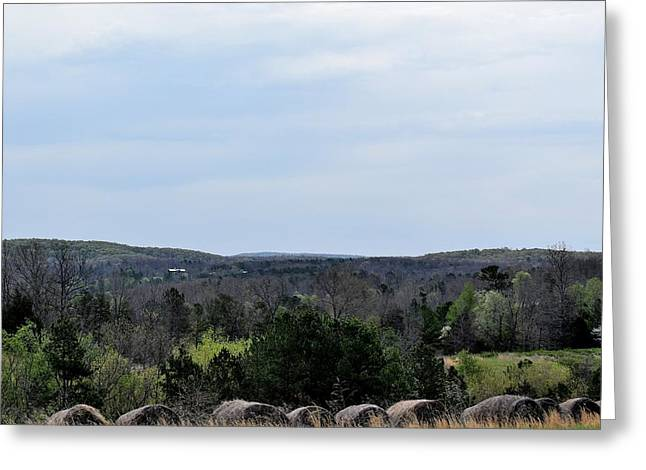 Hay Bales Greeting Cards - Landscapes 251 Greeting Card by Lawrence Hess