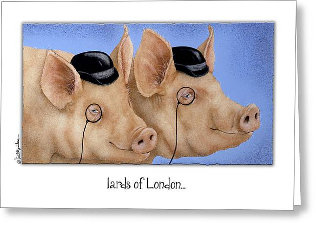 Barrister Greeting Cards - lards of London... Greeting Card by Will Bullas