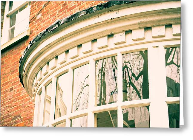 Historic Home Greeting Cards - Large window Greeting Card by Tom Gowanlock
