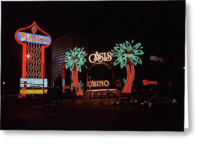 Glitter Gulch Greeting Cards - Las Vegas 1983 Greeting Card by Frank Romeo