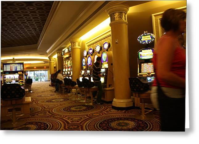 Greek Photographs Greeting Cards - Las Vegas - Caesars Palace - 12122 Greeting Card by DC Photographer