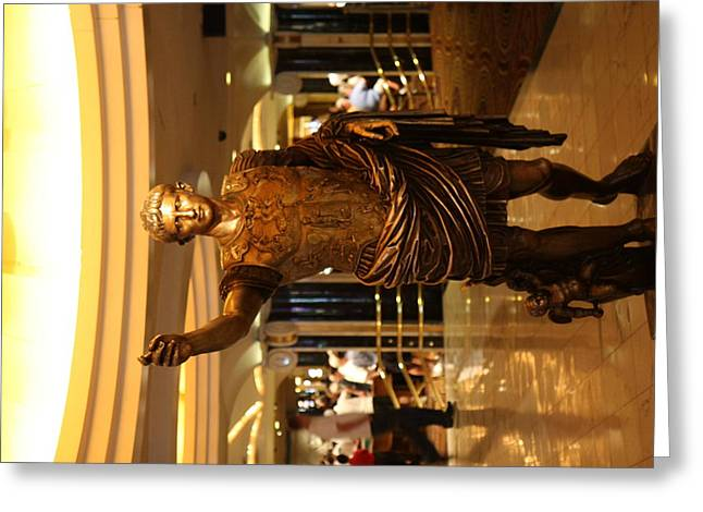 Fountains Greeting Cards - Las Vegas - Caesars Palace - 12127 Greeting Card by DC Photographer
