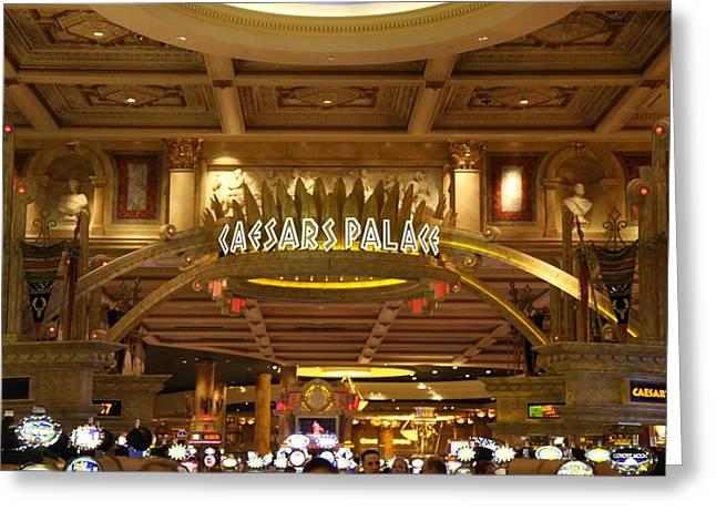 Casino Greeting Cards - Las Vegas - Caesars Palace - 12128 Greeting Card by DC Photographer
