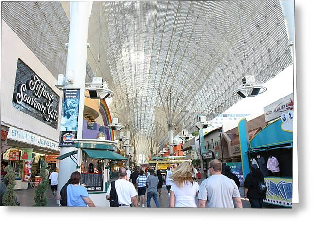 Fremont Greeting Cards - Las Vegas - Fremont Street Experience - 12121 Greeting Card by DC Photographer