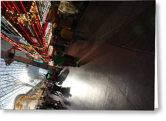 Freemont Greeting Cards - Las Vegas - Fremont Street Experience - 121210 Greeting Card by DC Photographer