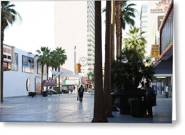 Game Greeting Cards - Las Vegas - Fremont Street Experience - 12125 Greeting Card by DC Photographer