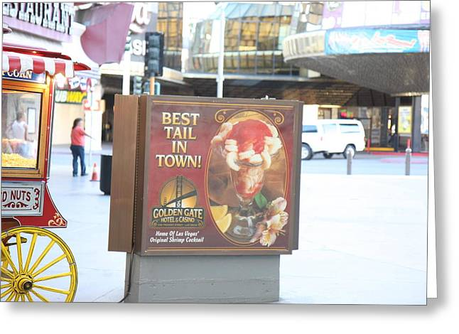Nevada Greeting Cards - Las Vegas - Fremont Street Experience - 12128 Greeting Card by DC Photographer