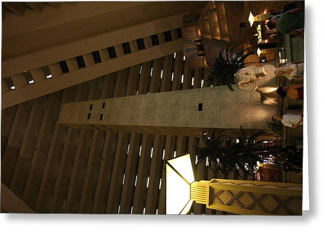 Egyptian Photographs Greeting Cards - Las Vegas - Luxor Casino - 12124 Greeting Card by DC Photographer