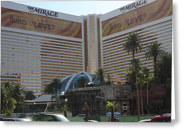 Mirage Greeting Cards - Las Vegas - Mirage Casino - 12121 Greeting Card by DC Photographer