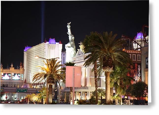 Empire Greeting Cards - Las Vegas - New York New York Casino - 12122 Greeting Card by DC Photographer