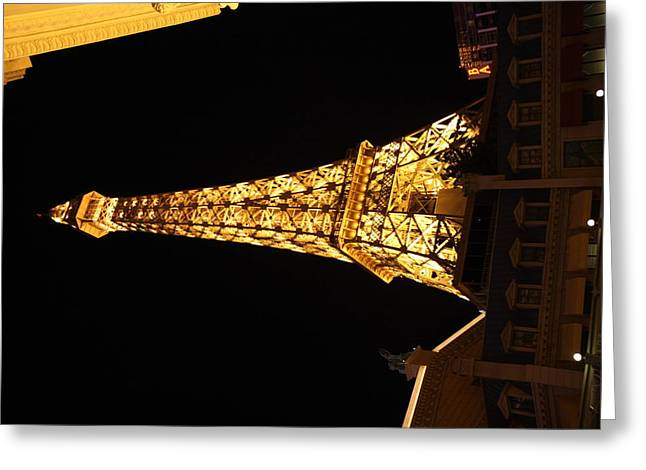 Tower Greeting Cards - Las Vegas - Paris Casino - 121213 Greeting Card by DC Photographer