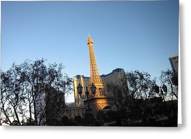 Lit Greeting Cards - Las Vegas - Paris Casino - 12122 Greeting Card by DC Photographer