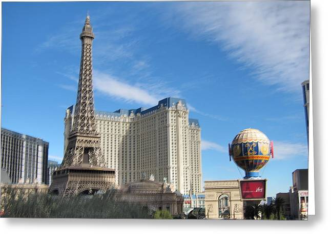 Balloon Greeting Cards - Las Vegas - Paris Casino - 12125 Greeting Card by DC Photographer