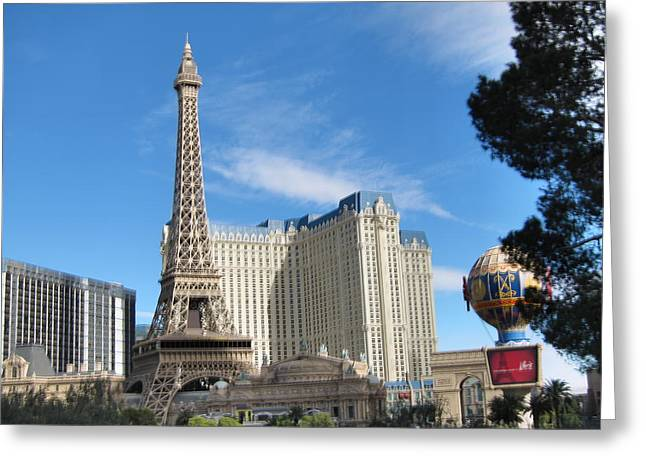 Nevada Greeting Cards - Las Vegas - Paris Casino - 12126 Greeting Card by DC Photographer